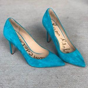Blue/Teal Pointed Toe Stilettos Never Worn